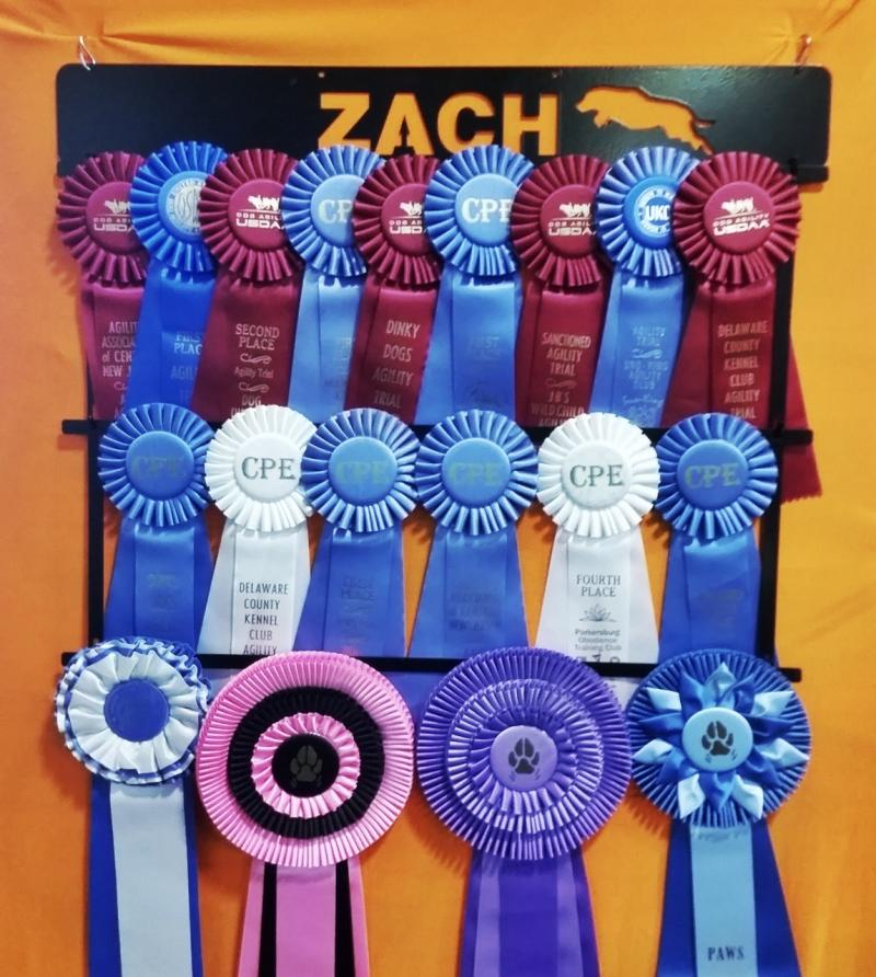 Zach ribbon holder plaque