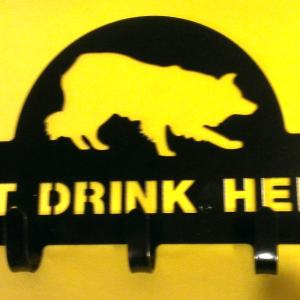 Eat. Drink. Herd Leash holder