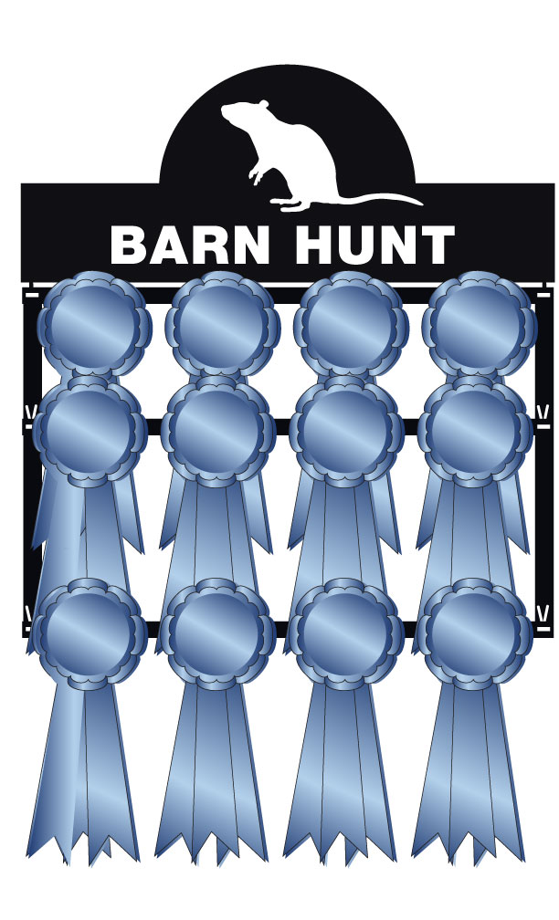 Barn Hunt Ribbon Holder (graphic)