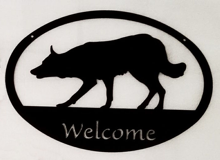 SmoothCoat Border Collie Oval Welcome Sign